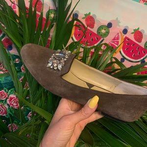 Adrienne vittadini Dani Fine leaves loafer slip on